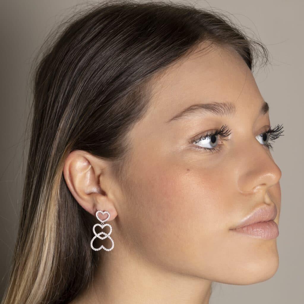 Boucles d'oreilles en or 18 k entièrement fabriquées en France